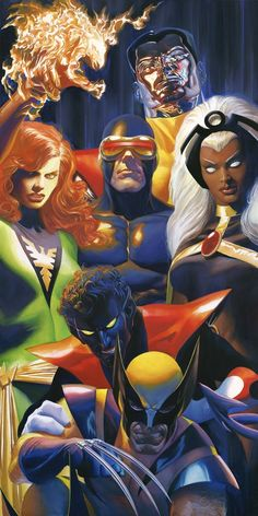 Marvel X-traordinary Signed by Alex Ross Framed Fine Art Canvas