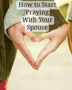 How to Start Praying With Your Spouse | Prayer is such a vital part of a marriage, but sometimes it can be kinda awkward to start the habit of praying together! This post is perfect for newlyweds or anyone who wants to start praying more with your significant other! Click through to read!