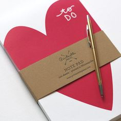 To Do #Heart Notepad by Printerette | #love #VDay
