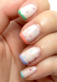 Legally Nailed: Pastel Jelly French