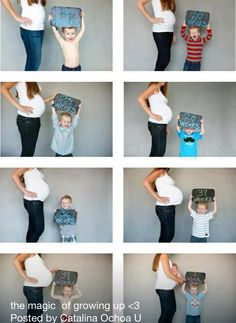 Nice idea for a photoshoot through 9 expecting months...