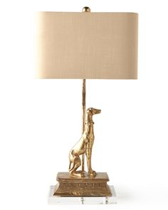 Regal Dog Table Lamp Like the dog! Not the shade!