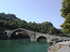 Devil's bridge, over Serchio river [ c. 1100 - Bagni di Lucca, Tuscany, Italy]
