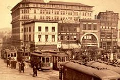 Historic Asheville, NC.  My great grandfather drove one of these streetcars...then he joined the police force!