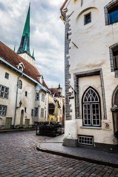 'Old Street of Tallinn, Estonia'