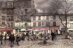 Montmartre early Wednesday 01 1024x Street View, France, Explore, Wednesday, Exploring, French