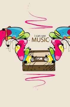 I can see music