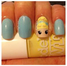 Awesome Disney Princess Cinderella nails I found in Instagram