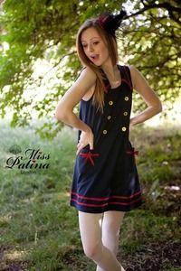 Miss Patina 60s Cute Sailor Dress