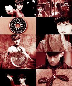 EXO as demigods→ Tao as the son of Chronos