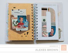 Alexes Brown - Carte Postal Mini Basic Grey, Mini Albums, Brown, Design, Brown Colors, Extended Play, Mini Scrapbooks