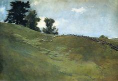 """Landscape, Cornish, New Hampshire,"" John White Alexander, ca. 1890, oil on canvas, 30.39 x 44.96"", Smithsonian American Art Museum."