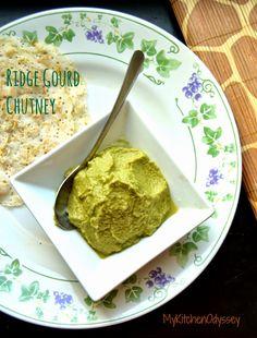 MyKitchenodyssey:Ridge gourd peel /peerkangai chutney.A fiber rich delicious south Indian style chutney for idli,dosa,roti