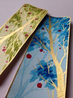 Watercolour bookmark