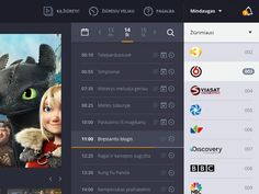 Web based online tv app by Drasius