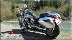 Our camera bike is a 2003 Harley-Davidson V-Rod with over 112,000 kilometers on it. We have equipped it with some of the very best accessories available from leaders in the industry.  We've posted images and part numbers with links to reviews at http://www.vridetv.com/motorcycle.html