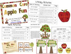 So many FREE apple activities in all subjects