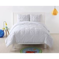 Shop for Laura Hart Kids Pinch Pleat Solid 3-Piece Comforter Set and more for everyday discount prices at Overstock.com - Your Online Kids'