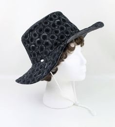 a11a38c3fc9 Black Gray Washable Hat