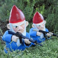 Combat Garden Gnomes are the perfect accessory for any home's front lawn.