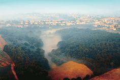 Hot air ballooning in Chianti Balloon Flights, Hot Air Balloon, Shades Of Green, Vines, Castle, Landscape, Water, Outdoor