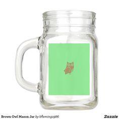 Brown Owl Mason Jar