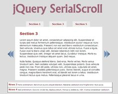 jQuery SerialScroll – jQuery Plugin to Animate Series of Items  #jQuery #scroll #scroller #newsticker #slideshow #serial