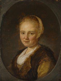 """Gerard Dou: portret van een jonge vrouw. 1640. Cleveland Museum of Art, Cleveland Ohio. Het kan hier gaan om het traditionele portret een bepaalde persoon.  Maar de informele kleding en de nadruk op het hoofd, doen vermoeden dat het hier gaat om een zogenaamde """"tronie"""". Tronies waren populair onder Hollandse schilders in de 17e eeuw. Ze gebruikten hiervoor levende modellen, maar de afbeeldingen leken niet echt op de modellen. Het ging meer om mooie plaatjes die een algemeen type voorstelden."""