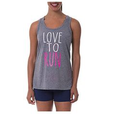 e4842097ff3fe Danskin Now Womens Active Fitspiration Graphic Racerback Tank Large Love To  Run  gt  gt
