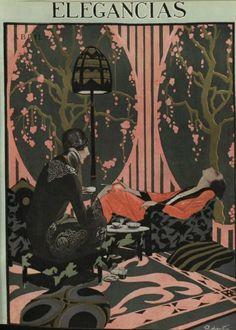 1920s Spanish illustration Art Nouveau, Vintage Vogue Covers, Art Deco Illustration, Illustrations, Art Deco Posters, Print Fonts, Roaring Twenties, Fashion Sketches, Vintage Art