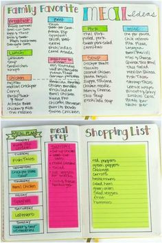 Creative Bullet Journal Ideas and Planner Spreads to organize your life. Inspiring layouts you can copy and do yourself! Perfect for your diary, journal, planner, calendar and How To Bullet Journal, Bullet Journal Junkies, Bullet Journal Notebook, Bullet Journal Layout, Bullet Journal Ideas Pages, Bullet Journal Inspiration, Bullet Journal Grocery List, Arc Notebook, Grocery Lists