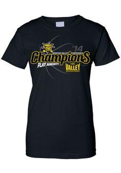 Wichita State (WSU) Shockers 2014 Missouri Valley Conference (MVC) regular season basketball champions womens black t-shirt http://www.rallyhouse.com/college/wichita-state-shockers/a/t-shirts/b/womens-t-shirts/c/short-sleeve?utm_source=pinterest&utm_medium=social&utm_campaign=Pinterest-WSUShockers $24.99