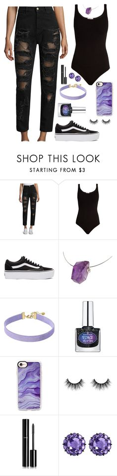"""""""Here I go"""" by ines-lynch ❤ liked on Polyvore featuring Tommy Hilfiger, Wolford, Vans, Vanessa Mooney, Lightyears, Casetify, Chanel and Color My Life"""