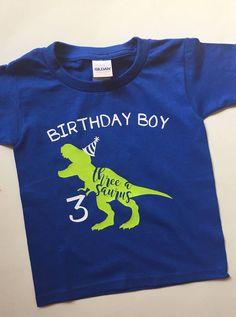 Dinosaur birthday t-shirt, toddler dinosaur birthday party shirt, child dinosaur party shirt, t-rex Third Birthday Boys, 3 Year Old Birthday Party Boy, Dinosaur Birthday Party, 3rd Birthday Parties, Birthday Shirts, Boy Birthday, Birthday Ideas, T Rex Shirt, Look T Shirt