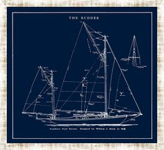 Sail Plan Framed Print