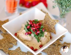 The Global Girl Raw Recipes: Raw Vegan Baba Ganoush with Oil-free Manaeesh Crackers from A Week's Worth of Middle Eastern.