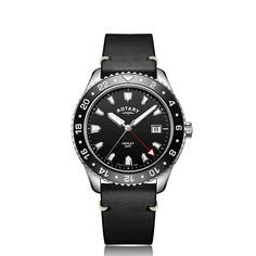 Rotary Watches, Sport Watches, Quartz, Sports, Leather, Accessories, Black, Hs Sports, Black People