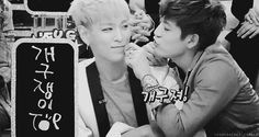 Top and Se7en... They are too much... Too cute..always~... Want to see more of them together like this.