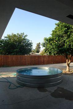 galvanized livestock tank pool