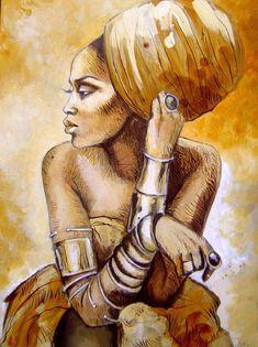 "Soul of Sankofa - fyblackwomenart: "" Stéphanie Ledoux · Afro ArtBeauty ArtAfrican "" The Effective Pictures We - Art Black Love, Black Girl Art, African Art Paintings, African Artwork, Afrika Tattoos, Afrique Art, Black Art Pictures, Black Artwork, African American Art"