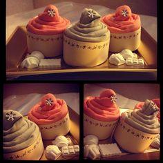 Strofinacci cucina a forma di cupcakes con gessetti profumati