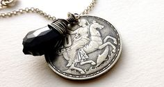 Greek necklace Mythology Moon Goddess Selene by CoinStories