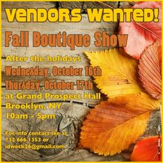 Flyer design for a Fall Boutique Show