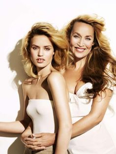 Jerry Hall and daughter Georgia May Jageer