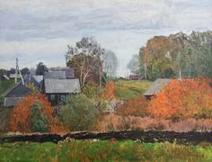 Autumn In Russian Village by Dmitriy Proshkin.