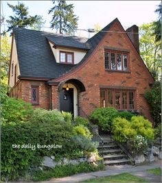 Storybook Homes, Small Cottage Homes, Tudor Style Homes, Tudor House, Cute House, Dream House Exterior, Sims House, House Goals, Architecture