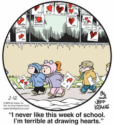 I never like this week of school | Family Circus (2015-02-12)