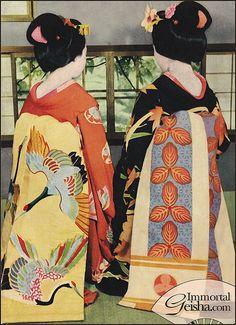 Maiko - Postcards from the 1950's by Naomi no Kimono Asobi, via Flickr