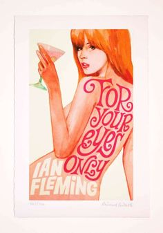 Sultry Spy Babe Posters Michael Gillettes Illustrates Pin-Ups of James Bond's Leading Ladies