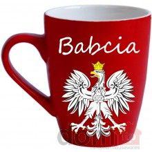 Babcia Mug with Polish White Eagle - Kubek Babcia z Bialym Orlem. 12oz. Made in Poland. 12oz. Made in Poland.